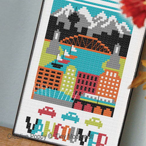 City miniatures cross stitch patterns designed by <b>The Tiny Modernist</b>