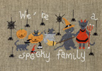 We're a spooky family - cross stitch pattern designed by Agnès Delage-Calvet
