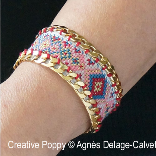 Cross stitch meets Jewelry making with these fun patterns