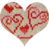 A. Delage-Calvet Miniature Love - modèle point de croix