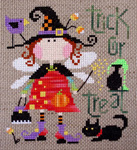 Olivia, the fairy-witch - a cross stitch pattern designed by Barbara Ana