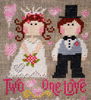 Two hearts, one love - cross stitch pattern designed by Barbara Ana Designs