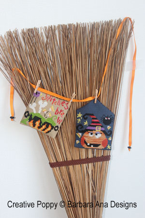 weave the ornaments into a broom or other Halloween decor.