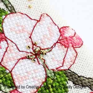 Apple Blossom Cross stitch pattern collection, Faby Reilly Designs