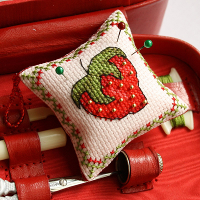 teaching children to cross stitch