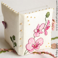 Faby Reilly - Plum orchid needlebook