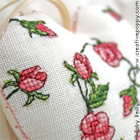 Sweet roses patterns - cross stitch pattern series designed by Faby Reilly