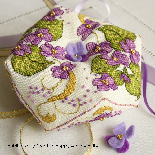 More flower patterns to cross stitch by Faby Reilly