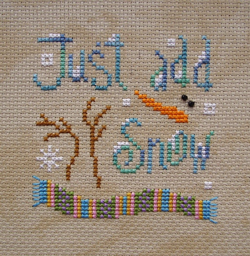 Patterns to cross stitch with Snowmen
