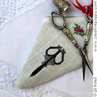 Embroidery scissor case, based on a design by Lili Soleil