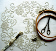 Bathilde - Counted cross stitch on linen fabric, a design by Lili Soleil
