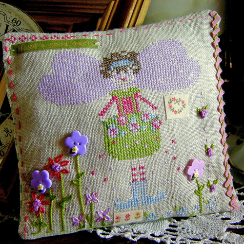 Designs combining cross stitch and other needlework stitches