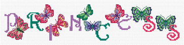 combine these letters to form names or words to cross stitch