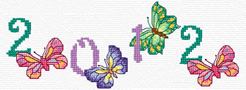 combine these butterfly numbers to form a date to cross stitch