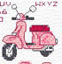Fancy stitching a pink scooter with Maria Diaz?