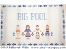 Big Pool Bath Mat by Marie-Anne Réthoret Mélin featured in cross stitch crazy magazine