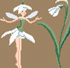 White flower fairies by Sylvie Teytaud