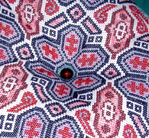 6ct Aida was used to stitch the biggie Biscornu