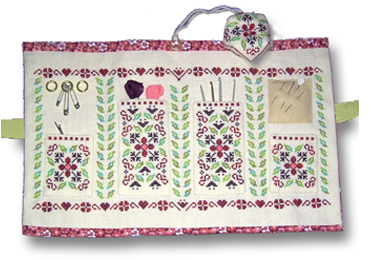 Cranberry sewing set, deisgned by Tam's Creations