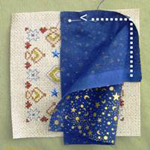 How to make a biscornu with contrasting fabric - By Tam's Creations