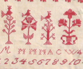 Muriel Brunet - 1841 Reproduction sampler with trees of life