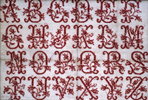 "Murile Brunet- Rose alphabet sampler ""marquette"""