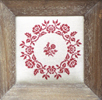 Rose wreath - Muriel Brunet - Cross stitch