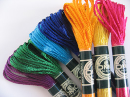 New Satin floss from DMC - An exceptional sheen, vibrant colors and soft touch