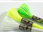 Glow-in-the-Dark and Fluoresecnt floss - DMC Light Effects range