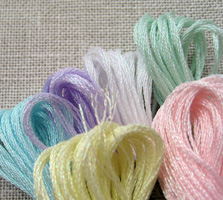 Opalescent threads - DMC Light effects range