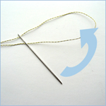Use the slip knot method to thread the needle