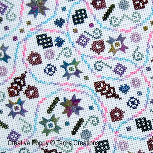 Abstract and ornamental patterns to cross stitch