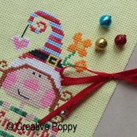 ribbon embellishment for Christmas cross stitch ornaments