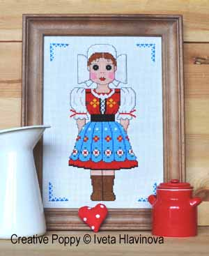 Folk Costume with White Coiffe
