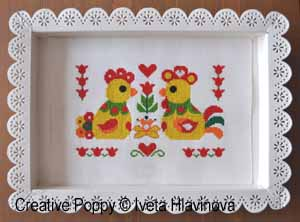 Greetings of Spring, counted cross stitch chart, designed by Iveta Hlavinova