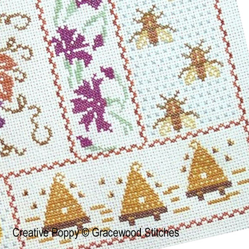 Harvest Hum, cross stitch pattern by Gracewood Stitches