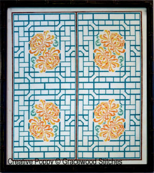 Chrysanthemums (Korean style screen)