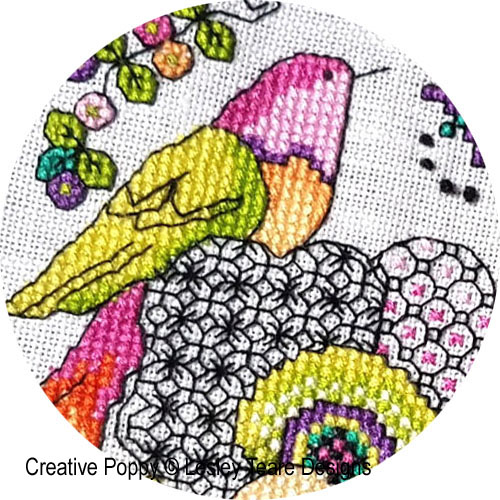 Lesley Teare Designs - 2020 SAL - Birds & Blackwork Flowers