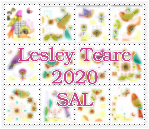 2020 Stitch-Along - Birds & Blackwork Flowers cross stitch pattern by Lesley Teare Designs