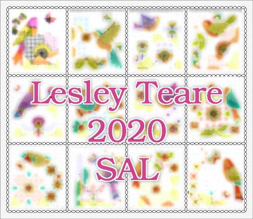 2020 Stitch-Along - Birds & Blackwork Flowers cross stitch pattern by Lesley Teare Designs