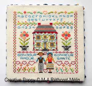 Marie-Anne Réthoret-Mélin - Wishes for every season: Spring (cross stitch pattern chart )