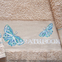 Butterflies - design for Bath towel