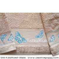 Butterflies - ABC and mini pattern - cross stitch pattern - by Marie-Anne Réthoret-Mélin