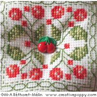 Red cherries Needlework accessories - cross stitch pattern - by Marie-Anne Réthoret-Mélin (zoom 1)