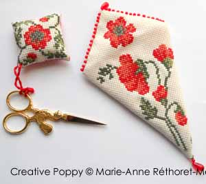 Marie-Anne Réthoret-Mélin - Poppy Needlework Accessories (cross stitch pattern) (zoom1)