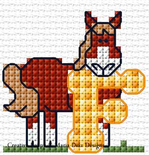Fun Animals for Children patterns to cross stitch