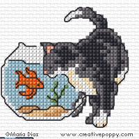 Maria Diaz - Cats Cross stitch Mini motifs (cross stitch pattern chart)