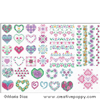 Hearts & Flowers motifs