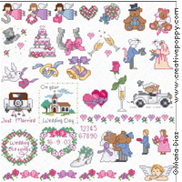 Maria Diaz - Wedding Mini motifs (cross stitch pattern charts)