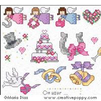 Maria Diaz Wedding Mini Motifs Cross Stitch Pattern Charts